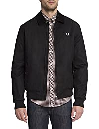 FRED PERRY - - Homme - Blouson Waxed Col Velour Noir pour homme