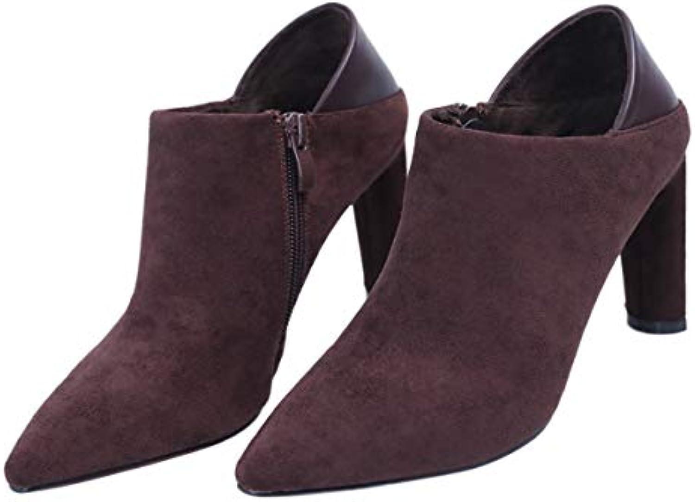 SFSYDDY Chaussures Populaires/Une Bouche D'Épaisseur Talon De 8.5Cm... Chaussures De Style De 100 Ensembles Zipper 8.5Cm... De 53597f