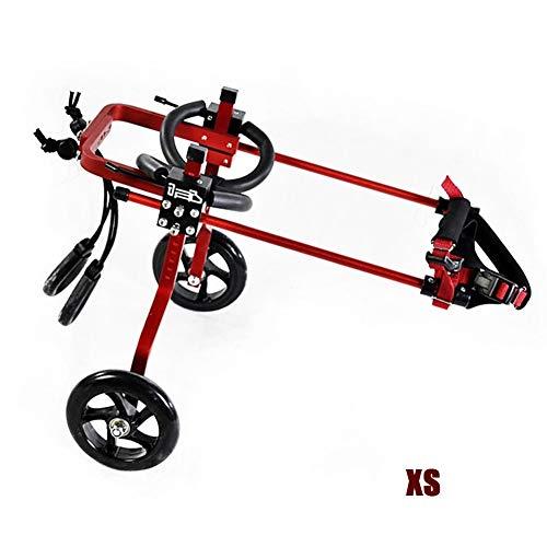 DHQSS Hund Katzen Rollstuhl, Einstellbare 2 Räder Haustier Rollstuhl Hunde Vorderbein Rehabilitation Warenkorb Gelähmtes Haustier Walk Assistent Für Hunde Welpen Katzen Kätzchen,XS -