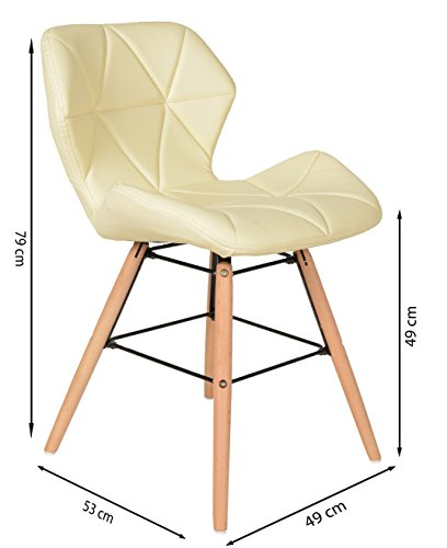 Ts ideen sedia retr sedia di design per sala da pranzo for Sedia design amazon