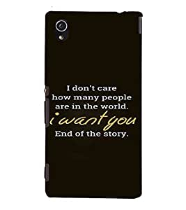 PrintVisa Love Quotes Design 3D Hard Polycarbonate Designer Back Case Cover for Sony Xperia M4 Aqua