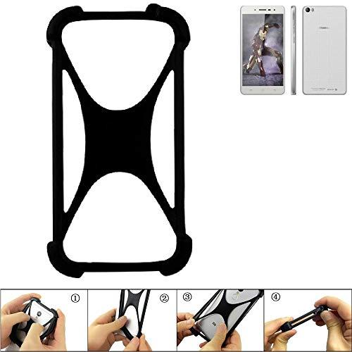 K-S-Trade Handyhülle für Hisense L671 Schutz Hülle Silikon Bumper Cover Case Silikoncase TPU Softcase Schutzhülle Smartphone Stoßschutz, schwarz (1x)