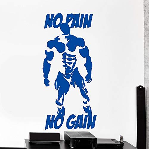 Bodybuilding Muscle Man Wandtattoos Fitness Gym Wandaufkleber Sport Home GymInnenwandkunst Wandhauptdekoration 42x71 cm -