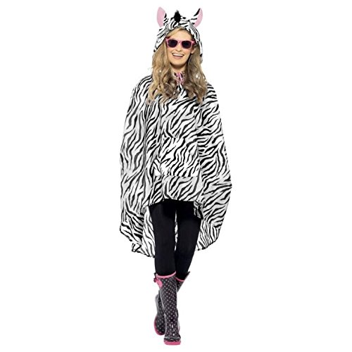 Zebra Fancy Dress Poncho ()