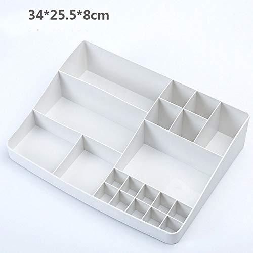 ZUXIANWANG Schmuckschatulle Box Grau Weiß Einfach, Plastische, kosmetische, Badezimmer Split kosmetische Aufbewahrungsbox Desktop Schmuck Lippenstift Clip Nagellack, Kosmetikkoffer