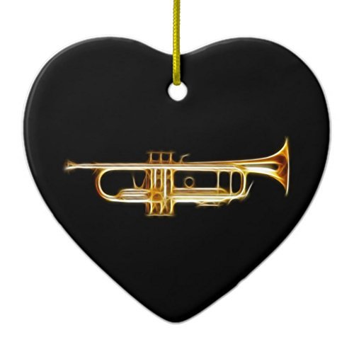 Weihnachtsschmuck für Bäume Trompete Messing Horn Wind Musikinstrument Ornament Herz Keramik Crafts für Mädchen xmas Decor