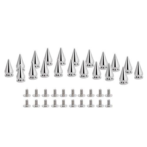 Akozon 20 Stücke 10 * 20mm Silber Metall Kugel Spikes Nieten Nieten Tasche Gürtel Leathercraft