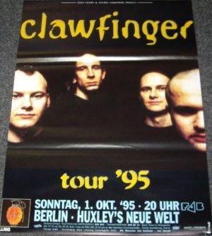 Clawfinger-Torre 1995-50x 70cm Poster/Poster