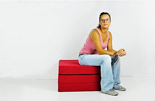 SHOGAZI Klappmatratze 90x200x12cm, für Erwachsene und Kinder, weinrot
