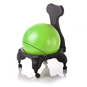 kikka active chair gr n stuhl mit gymnastikball k che haushalt. Black Bedroom Furniture Sets. Home Design Ideas