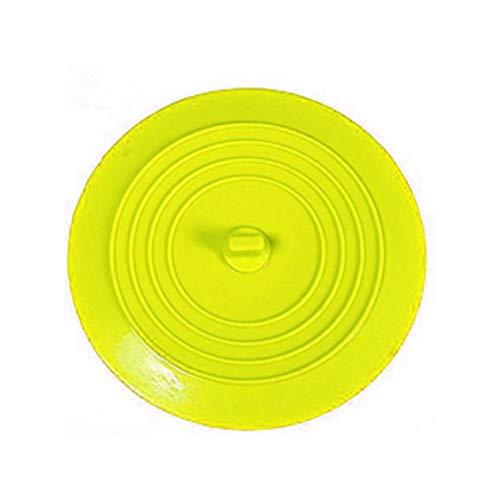 IronHeel Auslaufsicherer Wasserstopper Waschbecken Haarfänger Runder Silikonflacher Deckel Küchenablassschraube Universal-Gelb