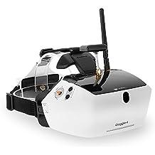 "Goolsky Walkera Gafa 5.8G FPV 40CH Gafas Vídeo Aérea con Recepción Doble Antenas Pantalla Grande 5 ""HD para Runner 250 F210 Rodeo 150 Furious 320 Drone de Carrera"