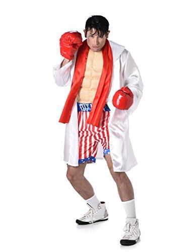 Karnival Costumes  - Deluxe Boxchampion Rocky Kostüm für Herren Taille L (Mantel Taille)