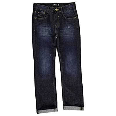 Firetrap Kids Rivet Jeans Junior Boys Denim Trousers Casual Pants Bottoms
