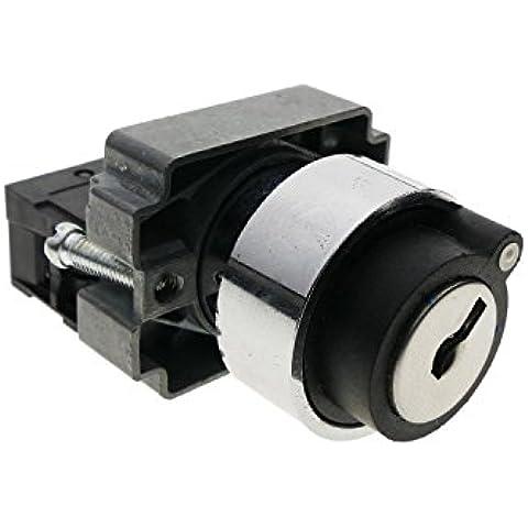 Cablematic - Selettore rotativo aggancio 2 posizioni 22mm 400V 10A di blocco con chiave