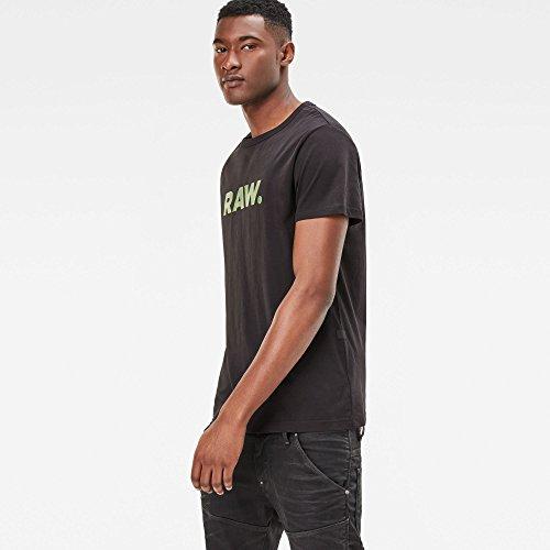 G-STAR RAW Herren T-Shirt Holorn R T S/S Schwarz