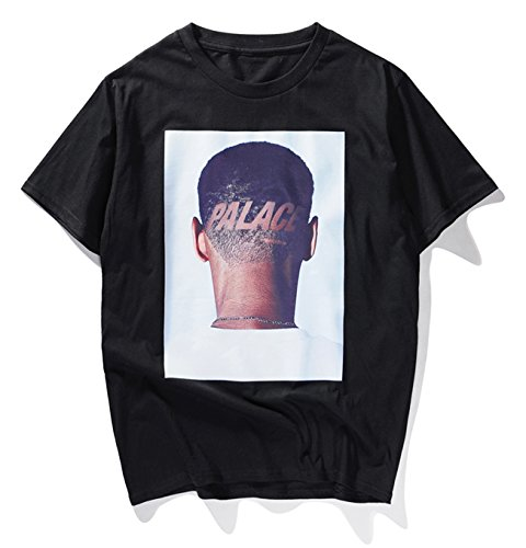 8444495a69a8 PIZOFF Unisex übergrößes Straße T-Shirt - mit tifer Schalternaht Kurzarm  Palace Y1854-black