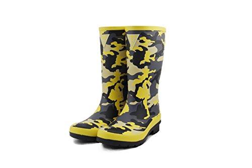 Botas de Agua de camuflaje amarillas para mujer