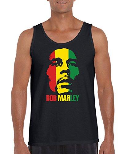 TRVPPY Herren Tank-Top Shirt Modell Bob Marley, Schwarz, L