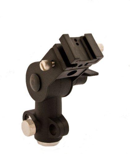 Flexibler Halter für Aufsteckblitzgeräte mit Aufnahme für Studioschirme und Standardgewindeaufnahme 1/4 (3/8 Zoll)