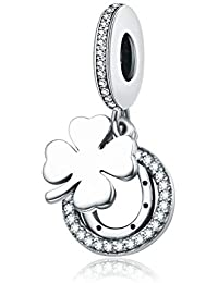 Zxx Jewelry 925 Plata De Ley Charm Abalorio Flores De La Suerte Pulseras Europeas Compatibles Pasado SGS— Elegante Caja De Regalo
