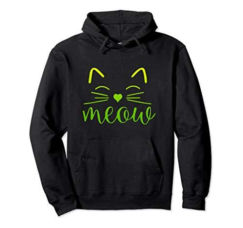 Halloween Kostüm Cat Lady Crazy - Meow Niedliches Katzengesicht Lustiges Kostüm Pullover Hoodie