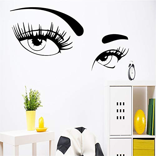 Zarte Augen Wandaufkleber Aufkleber Wandkunst Dekor für Wohnzimmer Schlafzimmer Dekoration Zubehör Vinyl Wandkunst Aufkleber 4 58 * 116 cm
