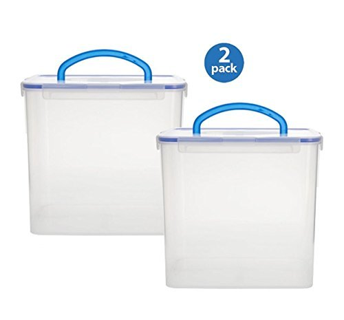 Snapware 1098437 40 Cup Clear Airtight Food Storage Container With Handle by Snapware (40 Cup Food Storage Container)
