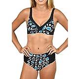 Frauen Druck Schwimmen Kostüm Damen Bandage Bikini Set brasilianische Badebekleidung Badeanzug Beachwear Swimming Moonuy