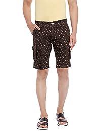 Canary London Black Printed Narrow Fit Shorts