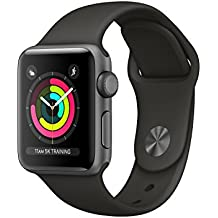 Apple Watch Series 3 OLED 26.7g Gris reloj inteligente - relojes inteligentes (Gris, Aluminio, Gris, Fluoroelastómero, Rectangular, 130 - 200 mm)