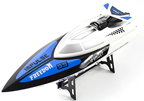 PREMIUM RC Motorboot Speedboot Rennboot ferngesteuert (bis zu 24 km/h) - Funksteuerung - hoher Spaßfaktor wie Kroko Doc