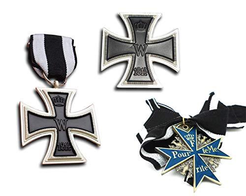 Orden Konvolut 1.Weltkrieg - 3er Set - EK1 / EK2 / Pour le Merite - dt. Armee