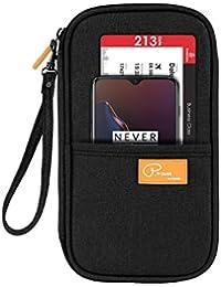 SEPAL Travel Passport Holder Case Cover Credit Debit ATM Card Wallet Tickets Money Boarding Pass and Pen Black