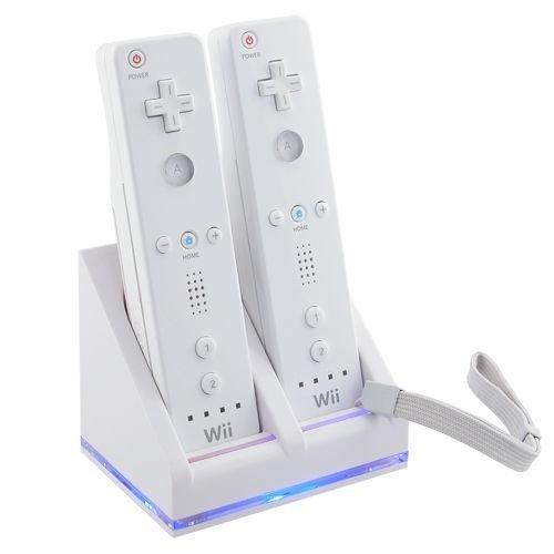 Wii - cargador doble de mandos de wii + 2 baterías