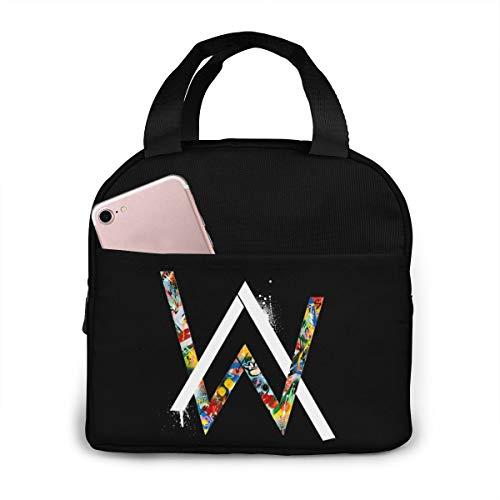 AW Walker Reusable Insulated Lunch Bag Cooler Tote Box With Front Pocket Zipper Closure For Work Picnic Or Travel Lunch Box Insulated Lunch Container -