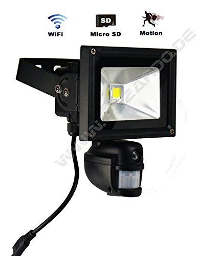 LAZARDO WLAN Kamera mit Bewegungsmelder DVR 5 Megapixel micro SD Karte Überwachungskamera LED Strahler Flutlicht deutscher Händler Garantie und Service Onfiv LZ-10-KBW