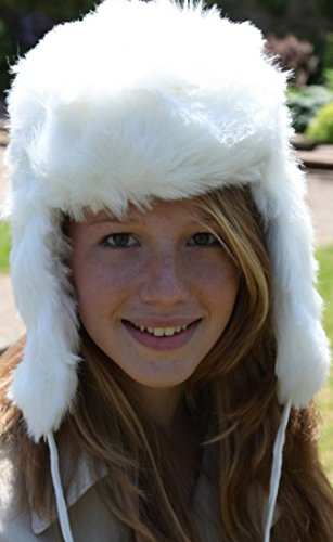 White Russian style Ushanka - Trapper hat Sz 57cm