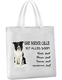 Ohne Border Collie ist alles doof Hund Black Bi AdriLeo Flaschenöffner