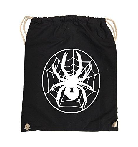 Borse Da Commedia - Spider - Net - Borsa Da Giro - 37x46cm - Colore: Nero / Rosa Nero / Bianco