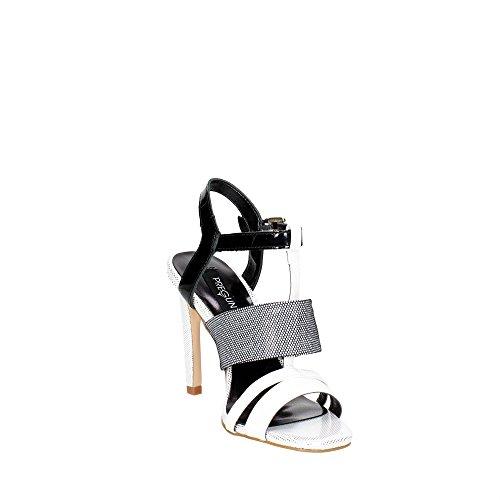 Pregunta IV1059-A 001 Sandalo Donna Nero/Bianco