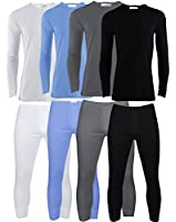 B.U.L ® Mens Extrem Hot Thermal Underwear Set Long Sleeve Vest & Long Johns Suitable for Winter, Outdoor Work, Travel, Camping & Ski Wear Size S-XL