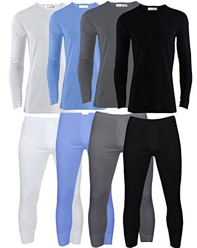 Mens Thermal Underwear Set Long Sleeve Top & Long Johns Winter Wear