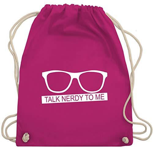 Nerds & Geeks - Talk Nerdy to me - weiß - Unisize - Fuchsia - WM110 - Turnbeutel & Gym Bag