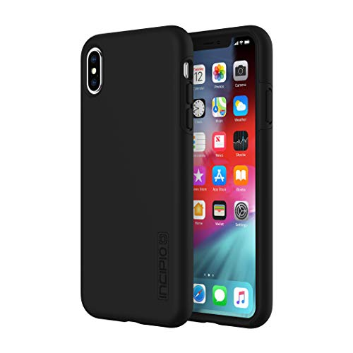 Incipio Iphone Case (Incipio DualPro Schutzhülle für Apple iPhone Xs Max - schwarz [Extrem robust I Stoßabsorbierend I Soft-Touch Beschichtung I Hybrid I Qi kompatibel] - IPH-1757-BLK)