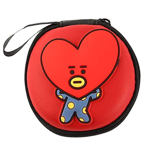 Christ For Givek Kpop BTS Headphones Case Storage Bag Cord Organizer Earbuds Holder Earphones Organizer Headset Headphone Cable Bag(H01)