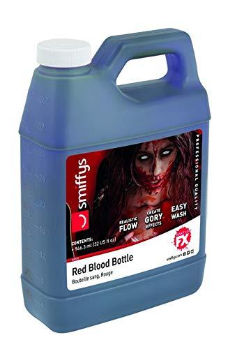 Damen Fake Blood Kunstblut Kanister als Schminke oder Make Up, Kostüm Accessoires Zubehör, perfekt für Halloween Karneval und Fasching, Rot ()
