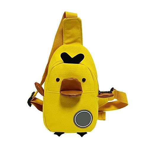 Minear Cartoon Ente Brusttasche Hochwertige Materialien Kompakte Größe Flexible Trageform Unisex-Kind Schultaschen Für Den Täglichen Gebrauch Reise Arbeit Sport Laufen Unisex-ente