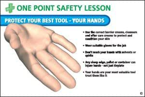 one point safety poster protect your best tool hand