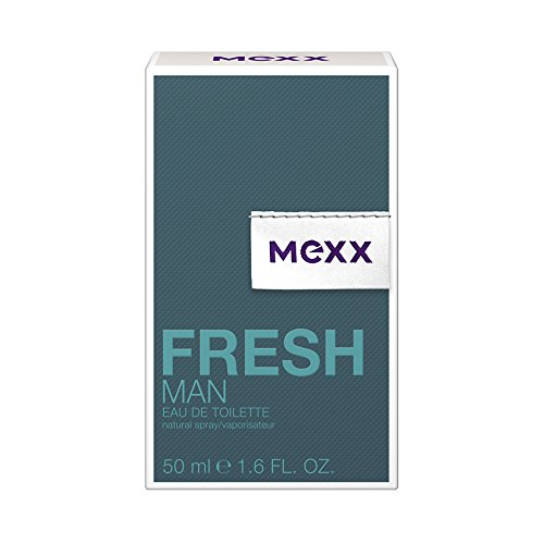 Mexx Fresh Man - Eau de Toilette Natural Spray - Aromatisches Herren Parfüm mit holzigen Noten - 1 er Pack (1 x 50ml)